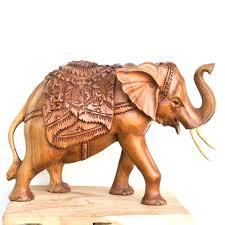 wooden elephant figurines on lotus wood sculpture statue from india sculptu carved wood elephant figurine