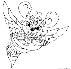 Want to discover art related to pawpatrol? Mighty Pups Flying Skye For Kids Coloring Pages Printable