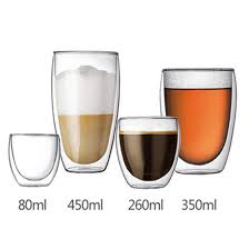 16oz 450ml custom logo high qualtiy clear borosilicate glass coffee mugs