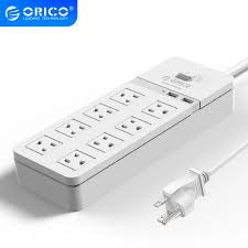 ORICO SPT S8 Cổng USB 8 AC Tăng Bảo Vệ Ổ Cắm Điện Với Nguồn Điện USB Dây IC  Cho Gia Đình Và Văn Phòng 8 cổng AC Ổ Cắm