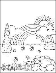 Small Picture Rainbow Color Page Perfect Rainbow Coloring Pages Geometric
