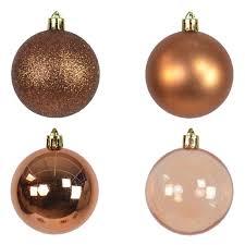 9 Set Weihnachtskugel Kupfer Bronze Braun 6cm Christbaumschmuck Kugeln Gl