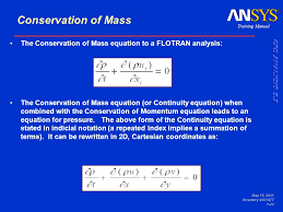 training manual may 15 2001 inventory 001477 1 24 conservation of mass the