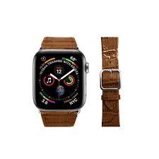 apple watch series 4 elegance watch band 44 mm camel crocodile style apple watch series 4 elegance watch band 44 mm camel crocodile style