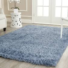 accessories lovely light blue area rug and flokati style acrylic material solid pattern cotton backing