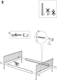 Download IKEA LEIRVIK BED FRAME FULL QUEEN & KING Assembly