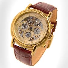 louis bolle gents emissary automatic multi function skeleton louis bolle gents emissary automatic multi function skeleton cognac leather strap champagne dial