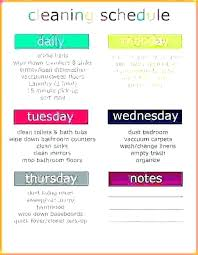 Cleaning Checklist Template Free Printable House Cleaning Schedule Template Checklist Uk 8 Sample