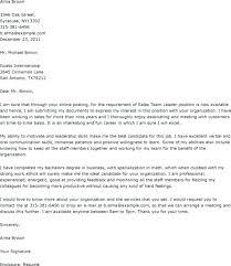 Covering Letter For Team Leader Team Leader Resume Format Best Of