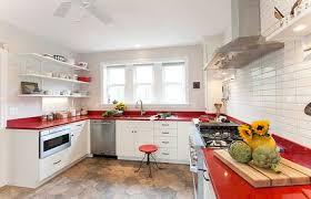 red quartz countertop
