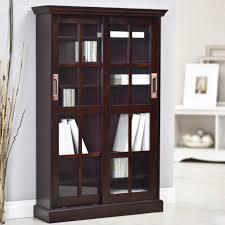 southern enterprises media cabinet paperback bookcase with sliding door espresso hayneedle