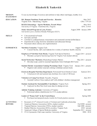 Endearing Nutritionist Resume Examples With Additional Cv Template