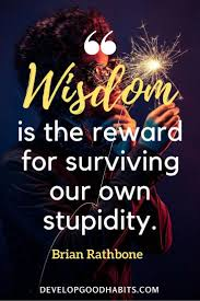 Quotes On Life Experiences Wisdom Is The Reward For Surviving Our