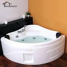 shower spa massage 2 person hot tub led whirlpool bathtub wall corner glass acrylic triangular man open box 2 person