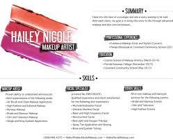 Fantastic Make Up Resume Images Documentation Template Example