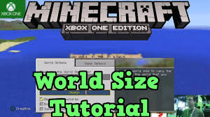 minecraft xbox one map size minecraft xbox one ps4 world size options sizes youtube