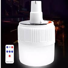 HCM]Bóng Đèn Led Sạc Tích Điện V51 60W Có Remote - Bóng Đèn Tích Điện Năng  Lượng Mặt Trời Có Móc Treo