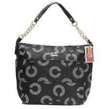 Coach Lock In Monogram Medium Black Shoulder Bags EIJ Must Satified  Nomatter Their Design Or Quality.