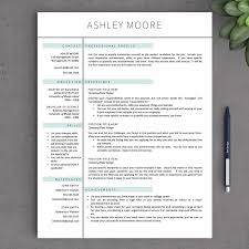 Modern Design Pages Resume Templates Innovation Idea 41 One Page