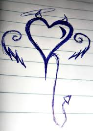 Cute Drawings For Him Cute Heart Drawing At Getdrawings Com Free For Personal Use Cute