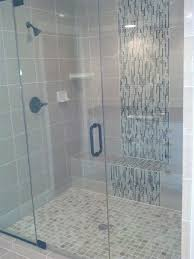 mosaic glass tile shower waterfall accent google search