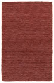 arista solid red hand crafted area rug