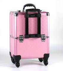 nice aluminum foldable makeup storage box beauty hairdresser trolley case