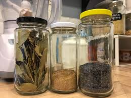 save small jars to bulk spices