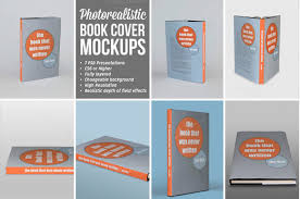 photorealistic book cover mockups the template set here has e up with as many as seven psd presentations in high resolution all the files are fully