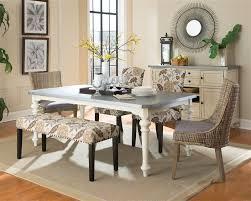 matisse 6 piece dining set in antique white two tone finish by coaster 106111 6