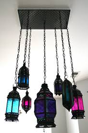 diy moroccan lantern chandelier