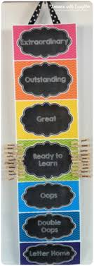 Chalkboard Chevron Classroom Decor Clip Chart Freebie