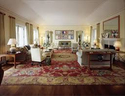 large oriental rug in a living room