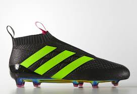 adidas ace 16 purecontrol firm ground boots core black shock pink solar green