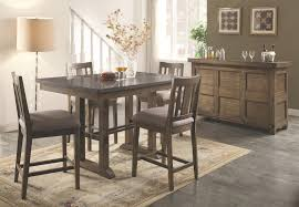 Dining Room Rustic Counter Height Dining Table Sets With Counter