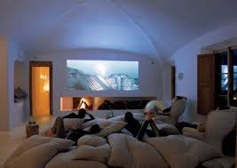 I Love The Idea Of These Huge Floor Pillows But I Would Want A Bunch Of  Couch Space Also. I Also Like The Idea Of Projecting The Movie