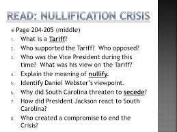 preview list one reason for jackson s n removal act ppt  3 nullification crisis