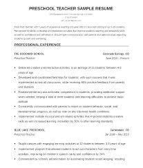 Montessori Teacher Resume Digiart