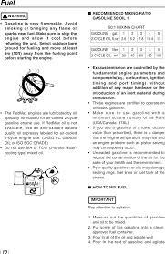 50 To 1 Oil Mix Chart Redmax Eb4401 Users Manual Om Redmax Eb4401 2003 09 1 0309
