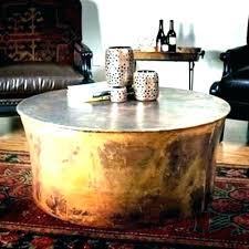 round metal drum coffee table round drum coffee table round drum coffee table round metal drum