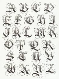 Letters For Tattoos Template