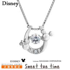 disney necklace mickey mouse minnie mouse horseshoe dancing stone disney クロスフォーミッキーミニー cz silver lady s pendant ndp 002 regular article