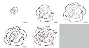 Roses Drawn Easy Rose Drawings Step By Step Drawn Rose Step Step