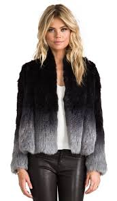 angel rabbit fur jacket