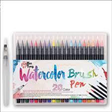 20 <b>Color Premium Painting</b> Soft Watercolor Brush Pen Set | Shopee ...