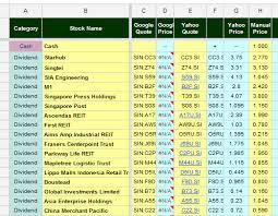 Spy Stock Quote Simple Best Free Stock Portfolio Tracking Spreadsheet Software