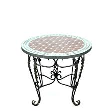 round coffee table mosaic tile side indoor or outdoor 3 wooden moroccan