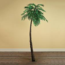 LED Lighted Green Palm Tree