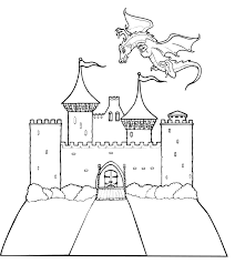 Watchtower with a soldier at the top. Free Printable Castle Coloring Pages For Kids
