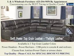 LEATHER Sectional with Power headrests & Power Recliners 3